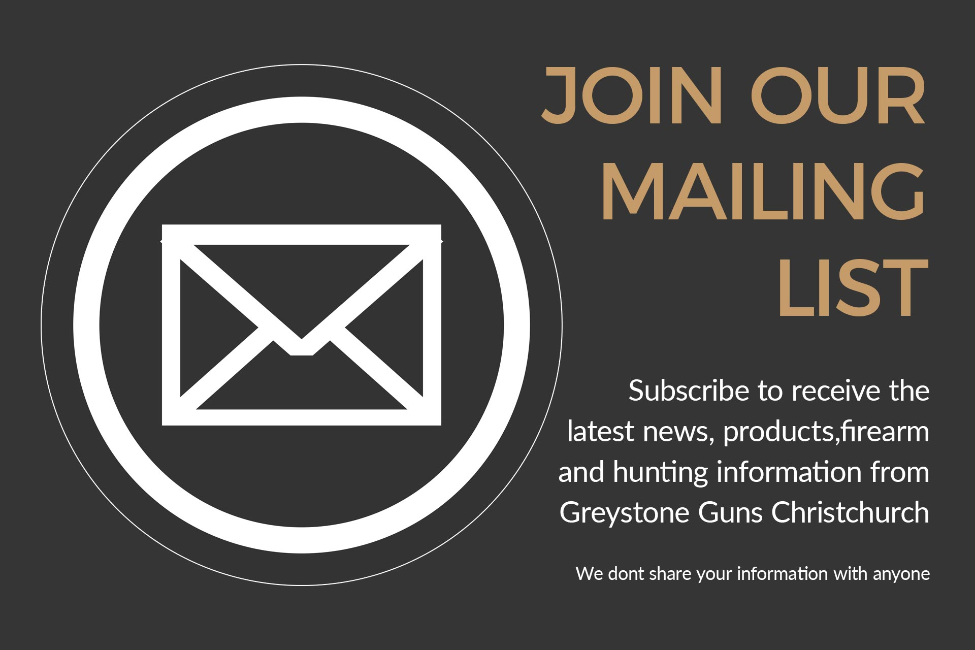 Greystone Guns Mailing List